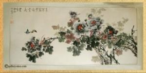 Encre fleurs prunier