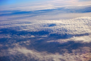 Ciel vu depuis le avion - Photo Parick Loisel