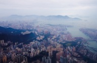 Hong Kong: vue aérienne - Photo Patrick Loisel