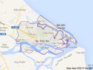 Mapa Hoi An