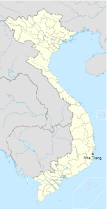 Localização de Nha Trang no Vietnã