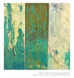 Obra em azul #10 | Oeuvre au bleu (óleo sobre tela | Huile sur toile) <br> photo Patrick Loisel