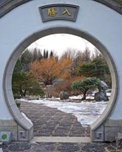 Entrée du jardin chinois
