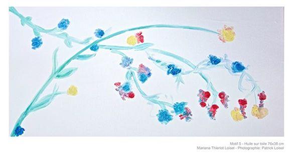 Motif 5 - Huile sur toile de Mariana Thieriot-Loisel | Photo: Patrick Loisel