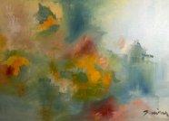 APNÉE Huile sur toile Mariana Thieriot Loisel Suite Cendres et Or