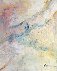 Aube huile sur toile Mariana Thieriot Loisel