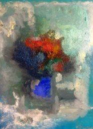 Bouquet Huile sur toile Mar Thieriot
