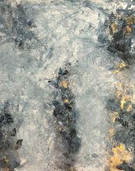 Étude - cette aveuglante lumière du noir - huile sur toile Mariana Thieriot Loisel