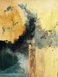 Cendres et Or huile sur toile Mariana Thieriot Loisel