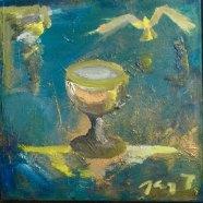 CHEMIN VERS VOUS 50x50cm Huile sur toile Mar Thieriot #9