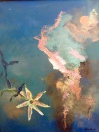 FLEUR DU VIDE numéro 2 12x16 pouces huile sur toile Mar Thieriot