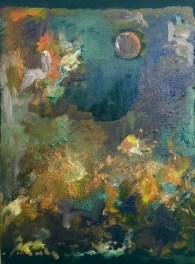 FLEUVE ET BERGE numéro 3 12x16 pouces huile sur toile Mar Thieriot