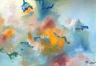 Huile sur toile Mariana Thieriot Loisel La voix solaire 6
