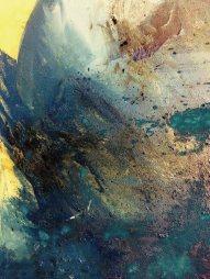 Larmes huile sur toile Fragment Mariana Thieriot Loisel